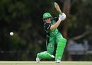Katie Mack drives powerfully, Melbourne Stars v Perth Scorchers, WBBL 2018-19, Melbourne, December 16, 2018