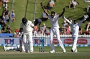 Kasun Rajitha appeals vociferously for a wicket, New Zealand v Sri Lanka, 1st Test, Wellington, 3rd day, December 17, 2018