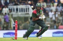 Mahmudullah taps the ball towards the off side, Bangladesh v West indies, 1st T20I, Sylhet, December 17, 2018
