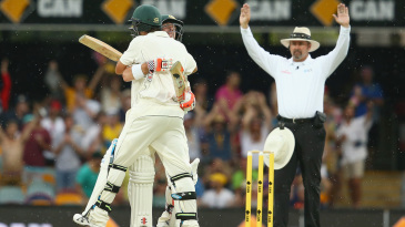 Joe Burns and David Warner's combined total of 398 in Brisbane in 2015-16 is the highest partnership tally by the same pair across two innings