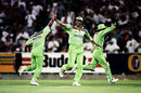 Wasim Akram celebrates a wicket, Pakistan v England, World Cup final, Melbourne, 25 March, 1992