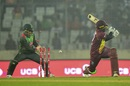 Fabian Allen is bowled, Bangladesh v West Indies, 2nd T20I, Mirpur, December 20, 2018