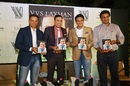 Rahul Dravid, VVS Laxman, Anil Kumble and Javagal Srinath at the book launch of '281 And Beyond', Bengaluru, December 20, 2018