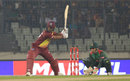 Evin Lewis shapes to hit into the leg side, Bangladesh v West Indies, 3rd T20I, Mirpur, December 22, 2018