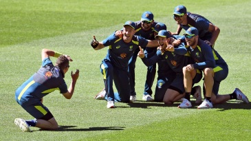 The Australian team was in good spirits ahead of the Boxing Day Test