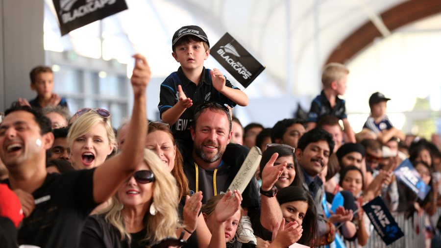The fans wholeheartedly lapped up Brendon McCullum's mantra: