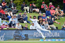 Roshen Silva with an acrobatic effort at the boundary, New Zealand v Sri Lanka, 2nd Test, Christchurch, 1st day, December 26, 2018