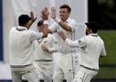 Tim Southee celebrates a wicket, New Zealand v Sri Lanka, 2nd Test, Christchurch, 1st day, December 26, 2018