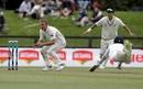 Roshen Silva dives to make his ground as Neil Wagner waits for the ball, New Zealand v Sri Lanka, 2nd Test, Christchurch, 1st day, December 26, 2018