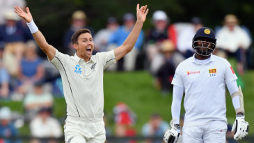 Trent Boult picked up six wickets in 15 deliveries in Christchurch to shoot Sri Lanka out