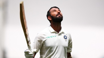 Cheteshwar Pujara notched up his 17th Test century