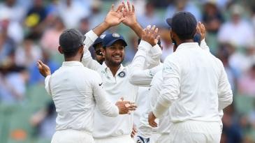 Mayank Agarwal took a sharp catch at short leg