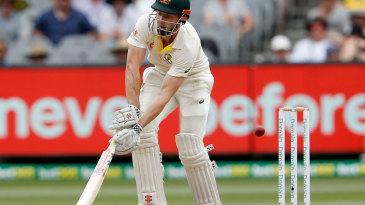 Shaun Marsh is deceived by a slower ball