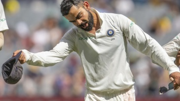 Virat Kohli doffs his hat