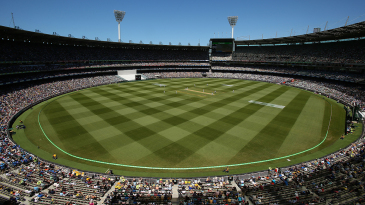 A view of the MCG on Boxing Day