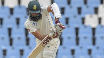 Hashim Amla negotiates a short ball