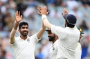 Jasprit Bumrah celebrates Aaron Finch's dismissal, Australia v India, 3rd Test, Melbourne, 4th day, December 29, 2018