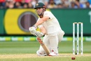 Mitchell Marsh reacts after keeping a yorker out, Australia v India, 3rd Test, Melbourne, 4th day, December 29, 2018