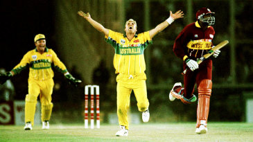 West Indies slipped to 194 for 8 when Ian Bishop was trapped lbw for 3