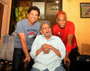 Sachin Tendulkar and Vinod Kambli pay their mentor Ramakant Achrekar a visit at his residence, October 31, 2018
