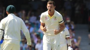 Josh Hazlewood enjoyed Virat Kohli's wicket