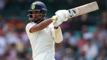 Cheteshwar Pujara plays the pull shot