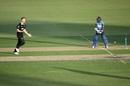 Jimmy Neesham celebrates after castling Niroshan Dickwella, New Zealand v Sri Lanka, 1st ODI, Mount Maunganui, January 3, 2019