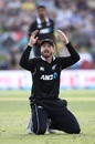 Martin Guptill gestures after missing a direct hit run-out, New Zealand v Sri Lanka, 1st ODI, Mount Maunganui, January 3, 2019