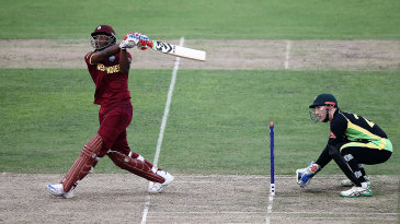 Andre Russell gives the ball some lift