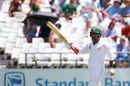 Sarfraz Ahmed acknowledges his half-century, South Africa v Pakistan, 2nd Test, Cape Town, 1st day, January 3, 2018