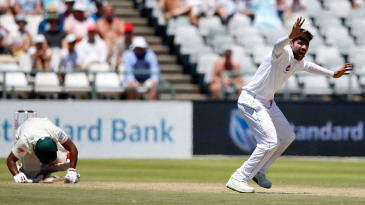 Temba Bavuma was felled by a Mohammad Amir delivery
