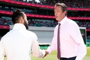 Virat Kohli presents a pink cap to Glenn McGrath, Australia v India, 4th Test, Sydney, 3rd day, January 5, 2019