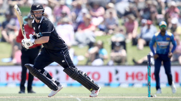 Colin Munro hits behind square on the off side