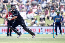 Colin Munro hits behind square on the off side, New Zealand v Sri Lanka, 2nd ODI, Mount Maunganui
