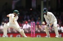 Rishabh Pant looks on as Marcus Harris plays onto his stumps, Australia v India, 4th Test, Sydney, 3rd day, January 5, 2019
