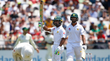 Asad Shafiq brought up his fifty