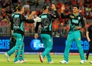 Mujeeb Ur Rahman celebrates a wicket, Perth Scorchers v Brisbane Heat, Big Bash League, Perth, January 5, 2019