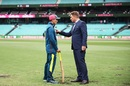 Shane Warne has a word with Justin Langer, Australia v India, 4th Test, Sydney, 4th day, January 6, 2018