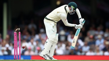 Peter Handscomb is bowled