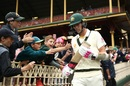 The kids cheer Pat Cummins on as he goes out to bat, Australia v India, 4th Test, Sydney, 4th day, January 6, 2018