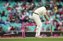 Pat Cummins is bowled as the ball keeps low, Australia v India, 4th Test, Sydney, 4th day, January 6, 2018