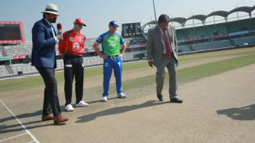 Steven Smith and David Warner at the toss