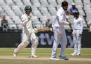 Dean Elgar punches the air after hitting the winning runs, South Africa v Pakistan, 2nd Test, Cape Town, 4th day, January 6, 2018