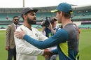 Virat Kohli and Tim Paine shake hands after the series, Australia v India, 4th Test, Sydney, 5th day, January 7, 2019