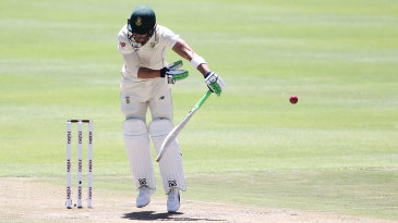 Faf du Plessis took several blows to his gloves in Cape Town