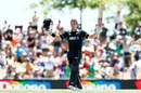 Henry Nicholls soaks in the applause after his maiden ODI century, New Zealand v Sri Lanka, 3rd ODI, Nelson, January 8, 2019