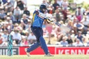 Thisara Perera goes on the front foot to drive on the up, New Zealand v Sri Lanka, 3rd ODI, Nelson, January 8, 2019