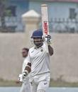 Ponnam Rahul celebrates his hundred, Himachal Pradesh v Kerala, Ranji Trophy 2018-19, Nadaun, January 8, 2019