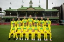 The Australia ODI squad poses in their retro kit, Sydney, January 10, 2019