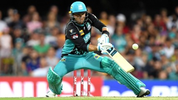 Brendon McCullum pulls out the ramp shot